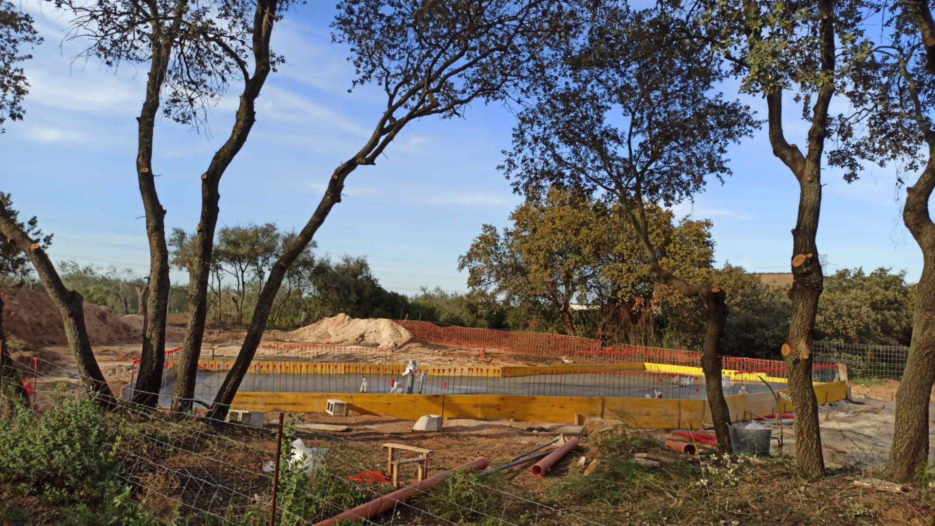 pour concrete slab our eco-friendly home